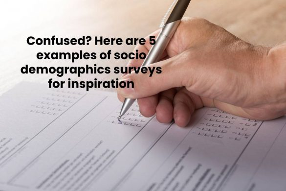Confused? Here are 5 examples of socio demographics surveys for inspiration